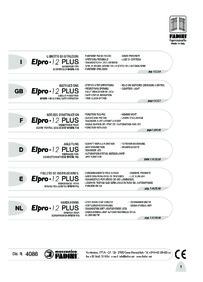 BPT Fadini Elpro 12 installation manual