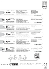 BPT Fadini Elpro 40S installation manual