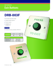 Exit button brochure