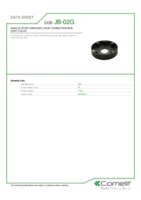 Comelit JB-02G data sheet