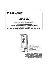 Aiphone JK-1SD Instruction manual