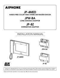 Aiphone JP-4MED Instruction manual
