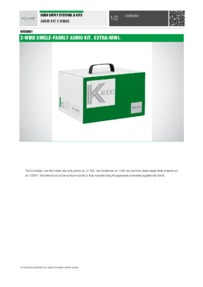 Comelit KAE0061 data sheet