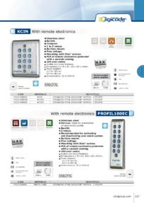 CDV KCIN and Profil 100 keypads with remote electronics Brochure