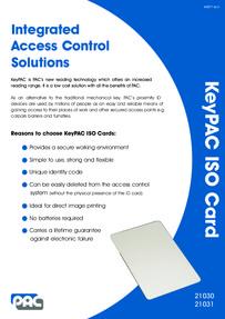 PAC KeyPAC Cards brochure