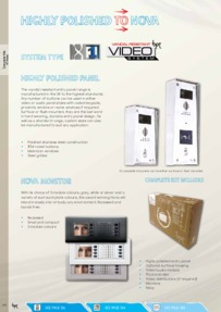 BPT Nova video kits brochure