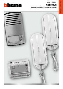 Bticino Sprint L2 - Linea 2000 kit data sheet