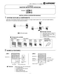 LEM Sub/Master station instructions