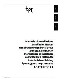 BPT Lithos to Agata audio kit installation manual