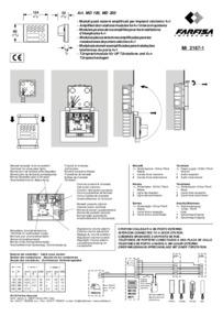 Farfisa instructions for Art. TA7100W