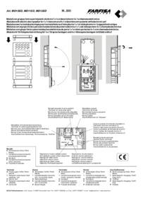Farfisa instructions for Art. MD10ED