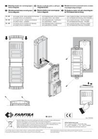 Farfisa instructions for Art. PL12P