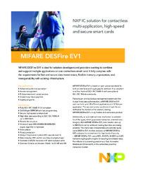 MIFARE DESFire EV1 Smart Card Brochure