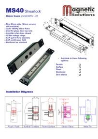 Magnetic Solutions MS40 shearlock brochure
