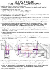 Magnetic Solutions MS40 shearlock Manual