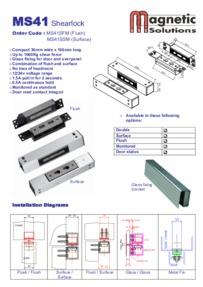 Magnetic Solutions MS41 shearlock brochure