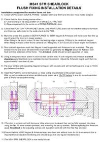 Magnetic Solutions MS41 shearlock Manual