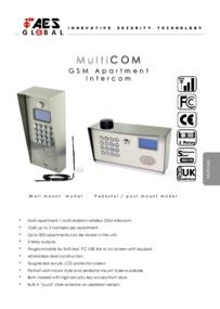 AES GSM Multicom Series brochure