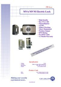 MV series electric lock brochure