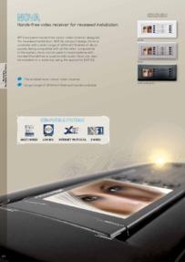 BPT Nova video receiver brochure