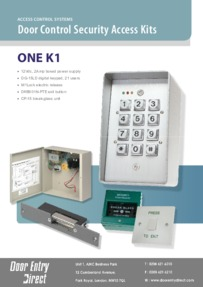 Access control kit ONE K1 data sheet