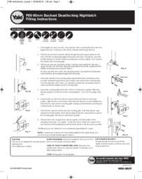 Yale 89 - 60mm Backset Deadlocking Nightlatch Fitting Instructions