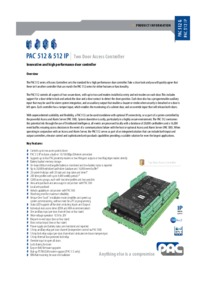 PAC 512 & 512 IP Brochure