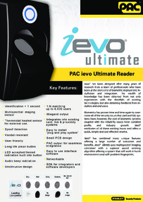 PAC ievo ultimate reader brochure