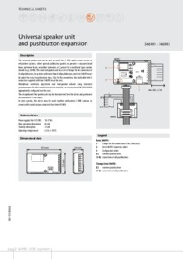 Bticino installation manual for 346991 - 346992