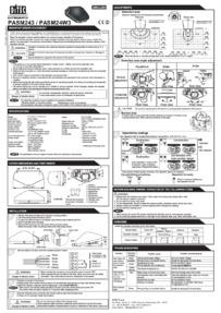 Ditec PASM243 Motion Sensor Installation Manual