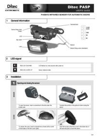 Ditec PASP Motion Sensor Installation Manual