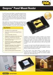 PAC OneProx panel mount reader brochure