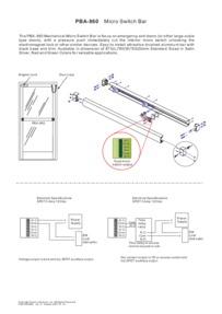 PBA860 Panic Bar instructions