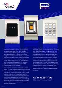 Videx Portal Plus networked access control