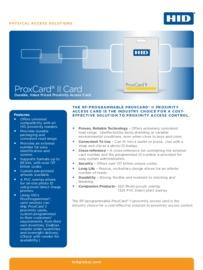 HID Proxcard II data sheet