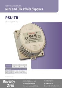PSU12-12TB & PSU12-24TB Mini Power Supply Brochure