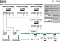 QCVK 1 user (up to 4 monitors), 2 entrance panels - Wiring Diagram