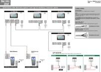 QCVK 1 user (up to 4 monitors), 2 entrance panels with keypad - Wiring Diagram