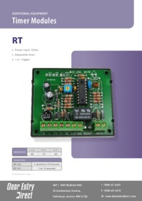 RT110 & RT115 Timer modules data sheet