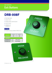 Green Exit button Brochure