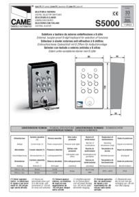 S5000 Keypad Installation Manual