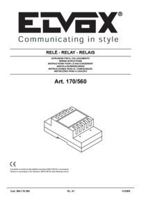 Elvox 170/560 installation manual