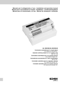 Elvox 839/303.06 installation manual