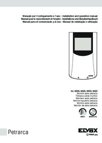 Elvox 6020 mono monitor installation manual