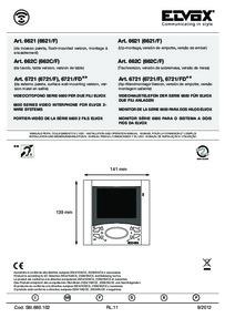 Elvox 6621, 6621/F, 662C, 662C/F, 6721, 6721/F, 6721/FD installation manual
