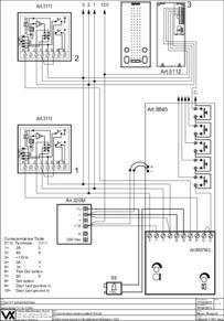 Videx 837 series Audio Wiring Diagram - 1 x Entrance, n x phones (5112 hands free & 3111), 520M PSU