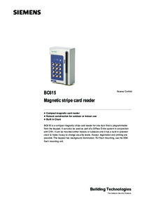 Siemens Bewator BC615 Magnetic Stripe Card Reader