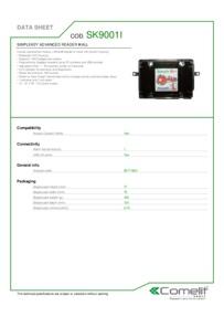 Comelit SK9001I data sheet