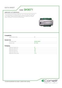 Comelit SK9071 data sheet