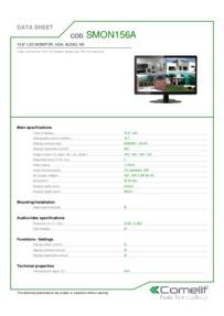 Comelit SMON156A data sheet